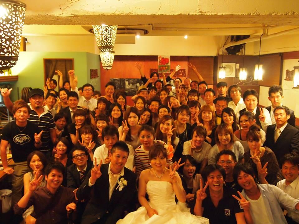 結婚式の二次会の演出はプロにお任せ!コロニアルキッチンで全員が楽しい思い出を作る事ができます。
